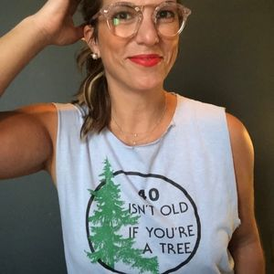 Tops - 🍌 Vintage 40 Isn't Old If You're A Tree Tank Top